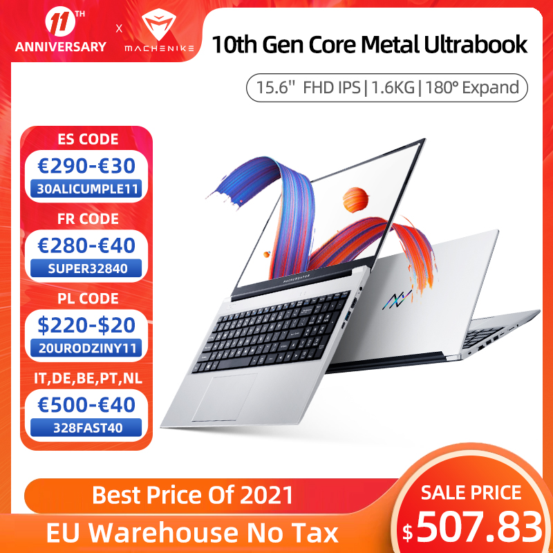 Machcreator-A Laptop Metal Ultrabook intel core i3-10110U 8G 256G SSD 15.6'' FHD IPS 2.4G+5G WiFi Portable Student Laptop Office 1
