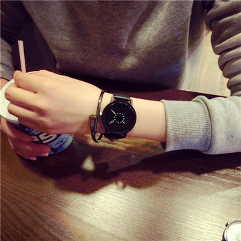 fashion original hight quality quartz watch fashionable unique leather watchband watch women casual dress watch relogio feminino 2020 New Fashion Couple Watch Casual Unisex Frosted Leather Strap Quartz Watch Simple Creative Dial Watch Relogio Feminino