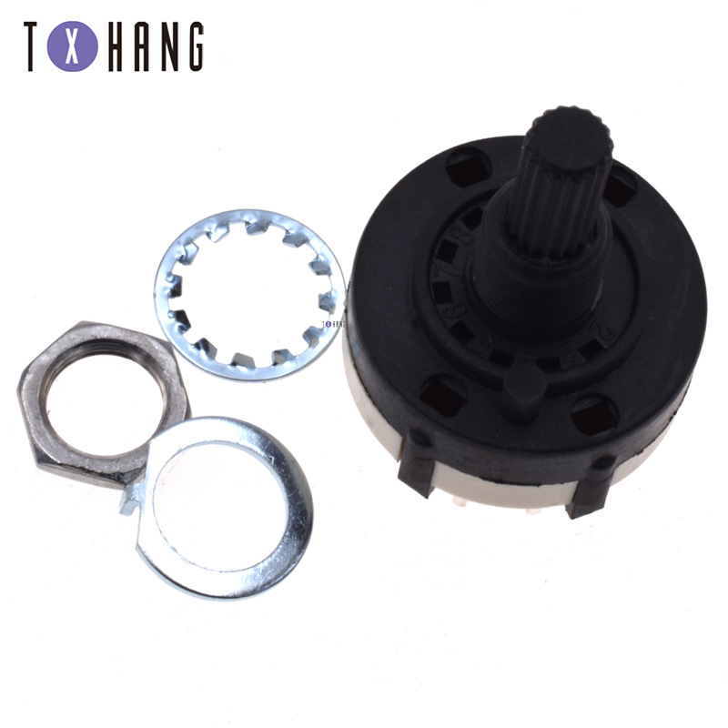 2PCS 3P4T 3 Pole 4 Position Single Wafer Band Selector 26mm Rotary Switch
