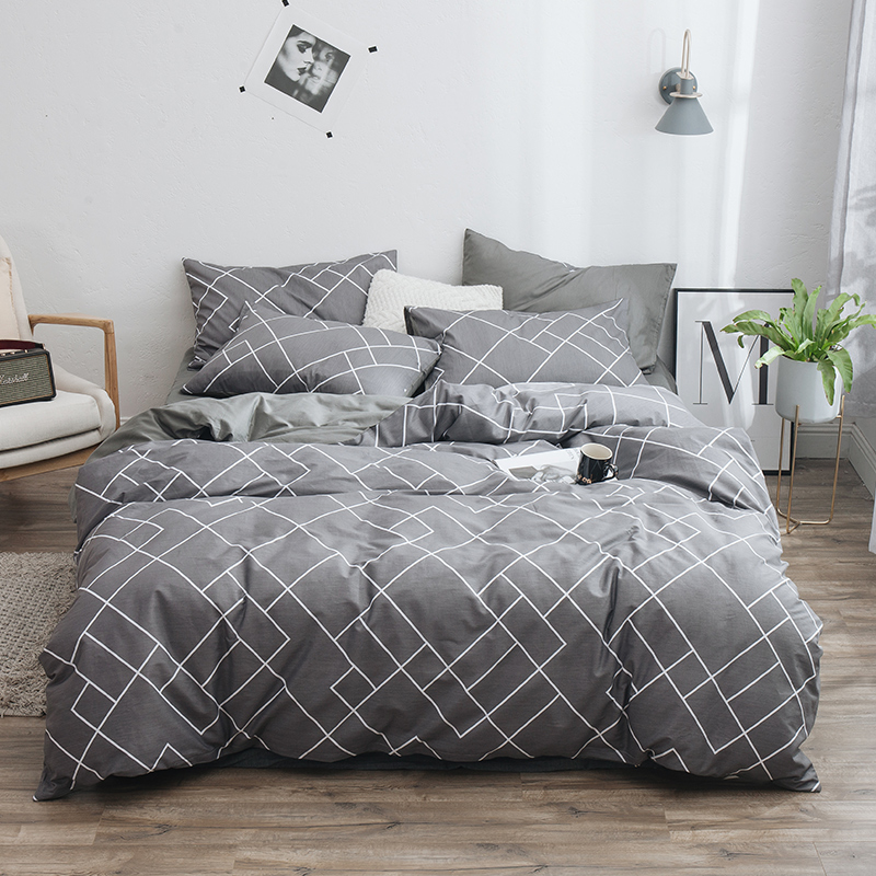 Lanke 100% Cotton Bedding Sets, Home Textile Twin King Queen Size Bed Set Bedclothes with Bed Sheet Comforter set Pillow case