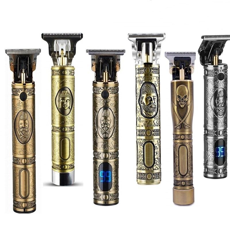 Hair-Trimmer 0mm-Razor Skeleton Cordless Electric Men Barber Rechargeable USB