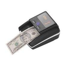 Draagbare Kleine Bankbiljet Detector Denominatie Waarde Teller UV/MG/IR/DD Counterfeit Detector Valuta Cash Tester machine