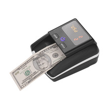 Portable Small Banknote Bill Detector Denomination Value Counter  UV/MG/IR/DD Counterfeit Detector Currency Cash Tester Machine