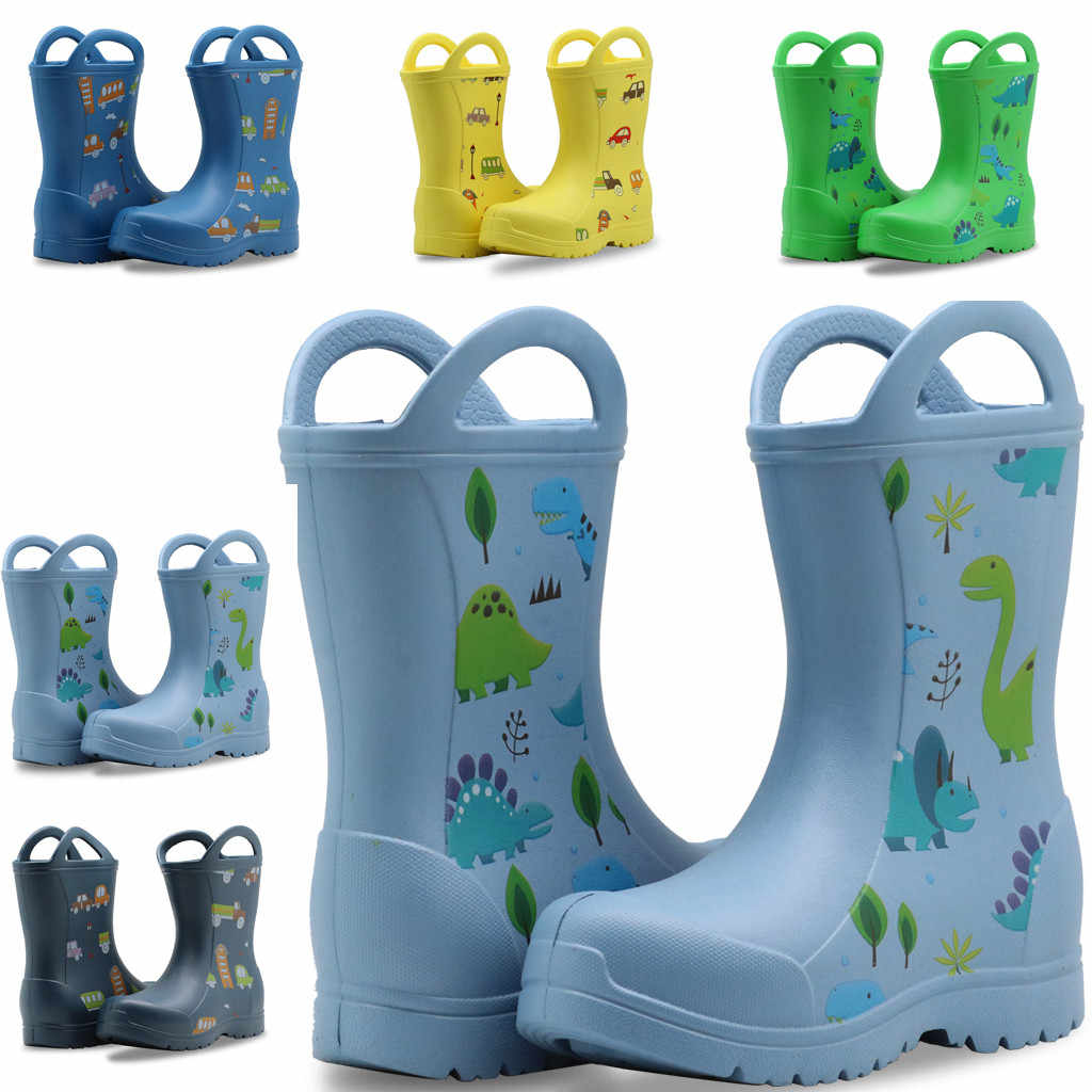 New Children Rain Shoes PVC Baby Rainboots Kids Rubber Shoes Boys Girls Waterproof Anti-Slippery Water boots May 5th
