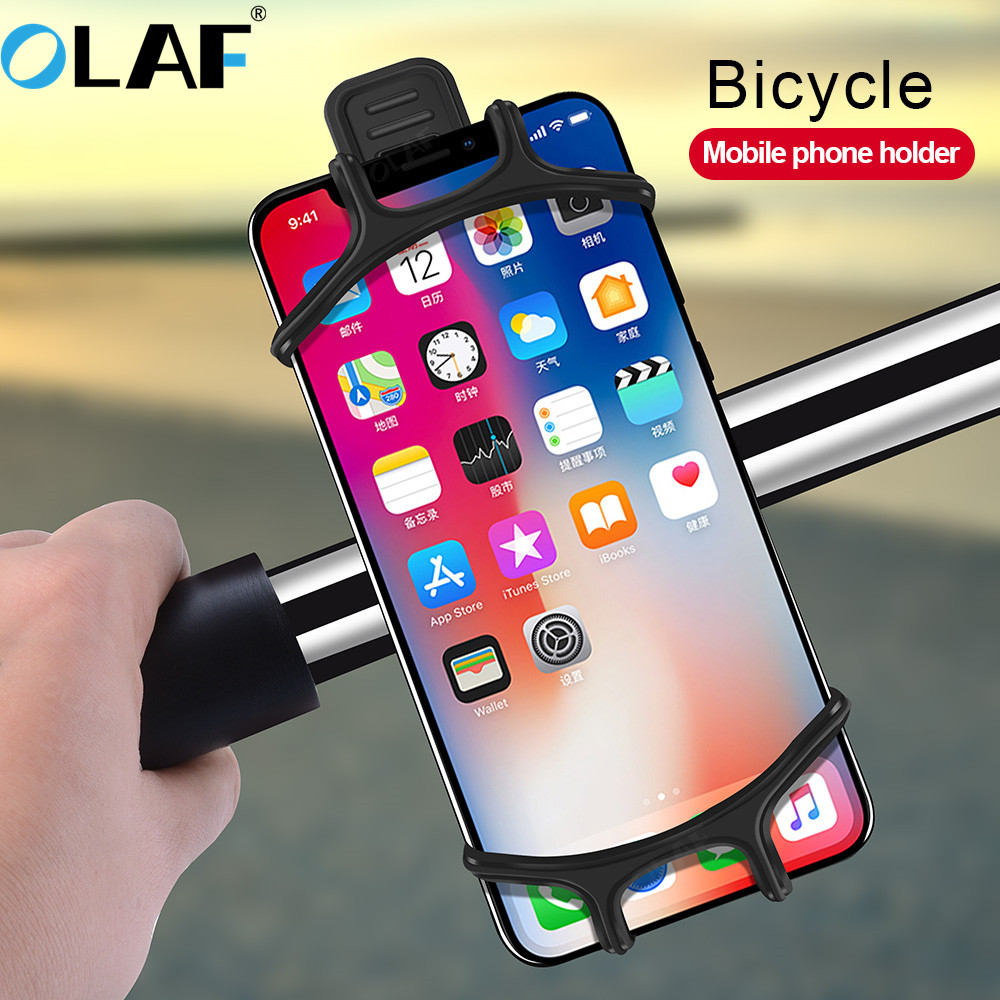 OLAF Bicycle Phone Holder For IPhone 7 X Samsung Xiaomi Universal Motorcycle Phone Holder Bike Stand GPS Mount Bracket