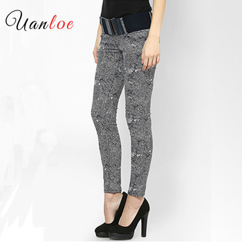 Women`s 4 Colors High Street Low Waist Stretch Skinny Denim Jeans For Woman Free Shipping