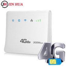 LTE CPE Wifi Routers 4g modem wifi sim card unlocked Mobile Hotspots Wireless Broadband Repeater 300Mbps Router with LAN Port