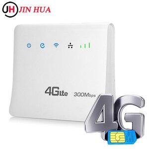 Routery 4G LTE CPE Wifi mobilne hotspoty bezprzewodowy dostęp szerokopasmowy Repeater 300 mb/s Router odblokowany z LAN obsługa portów at & t karta SIM