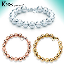 Bulgaria Fashion Jewelry Crystals from 925 Silver 10MM Bead Bracelet Beaded Hearts Love Women's Mother's Day Gifts(China)