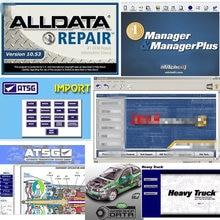 2021 Alldata 10.53 yazılımı oto tamir mit//chell OD5 vivid atölye verileri araba teşhis tüm veri aracı atsg