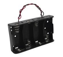 MasterFire 20pcs/lot Battery Holder Storage Case Box for 4 X 1.5V C Size Batteries With Wire Leads Slots Clip DIY Accessories