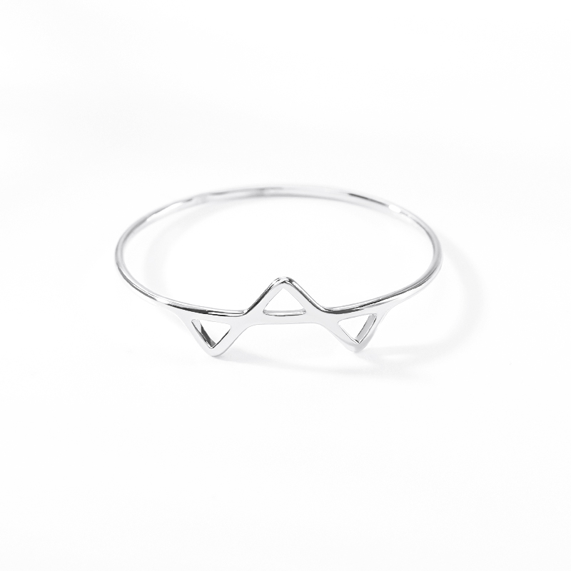 Gold stainless steel Geometric triangle shaped Connection Rings For Women Minimalist Gold Ring Anniversary Wedding Gifts anillos in Rings from Jewelry Accessories