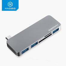 Hagibis USB C Hub 5 in 1 Type C to SD/TF Card Reader USB 3.1 HUB Adapter high speed for MacBook Air Pro Huawei Xiaomi Samsung new 3 in 1 card reader usb camera connection hub for u disk sd tf for ipad mini 4 5 air usb hub card reader