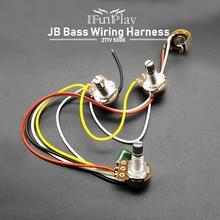 Wiring-Harness Electric-Guitar-Parts Bass Prewired Alpha-500k Jazz Bass for JB 2T1V 1-Socket