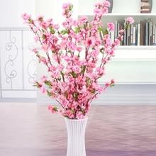 65cm 5pcs Künstliche Kirsche Blossom Frühling Plum Pfirsich Blume Zweig Silk Blumenstrauß Home party Hochzeit Dekoration
