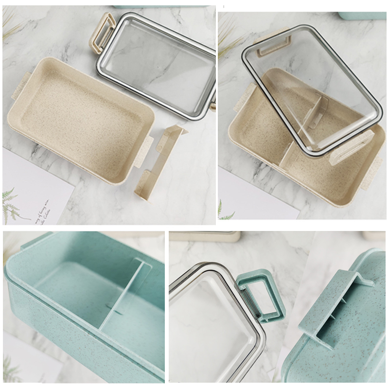 Heated Food Container For Food Bento Box Lunch Box Double-layer Compartments Lunchbox Microwave Container Box Japanese Thermal 5