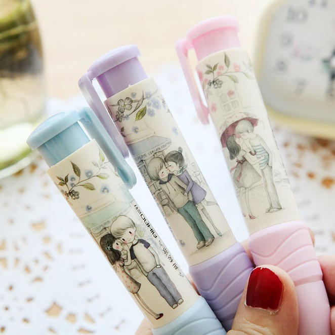 New Fashion Students Pen Shape Eraser Rubber Stationery Kid Gift Toy Cute School Supplies