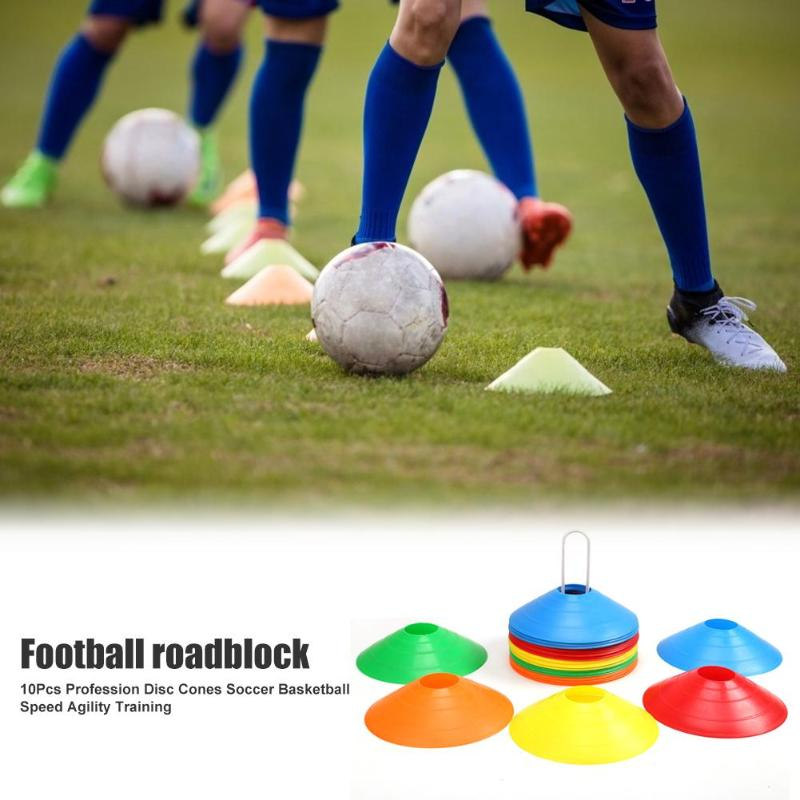 10PCS/Lot Football Cross Speed Training Discs Outdoor Soccer Rugby Agility Training Sign Disc Cone Space Marker Training