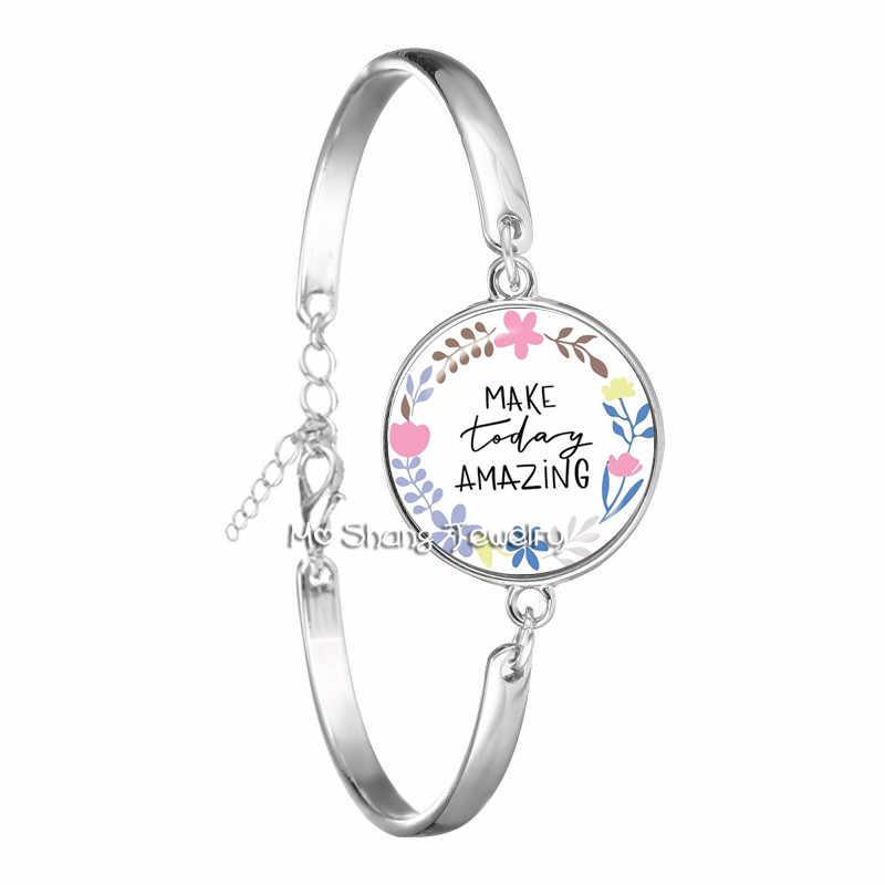 Nueva pulsera de brazalete de verso de la Biblia de la manera 18mm brazalete de cabujón de cristal para las mujeres Psalm joyería cristiana regalos de fe