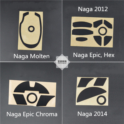 1 Set 3M Mouse Foot Sticker Mouse Skates For Razer Naga Molten Naga Epic 2012 Hex Epic Chroma / Naga Epic Chroma 2014 MMO