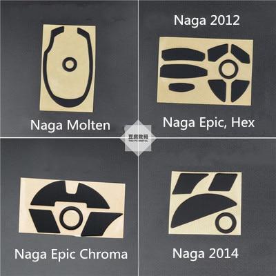 1 Set 3M Mouse Foot Sticker Mouse Skates For Razer Naga Molten Naga Epic 2012 Hex Epic Chroma / Naga Epic Chroma 2014 MMO