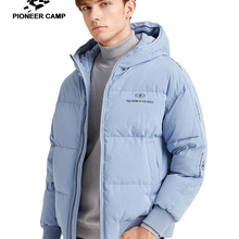 Pioneer Camp Fashion Men Winter Duck Down Jacket Solid Warm Simple Wat