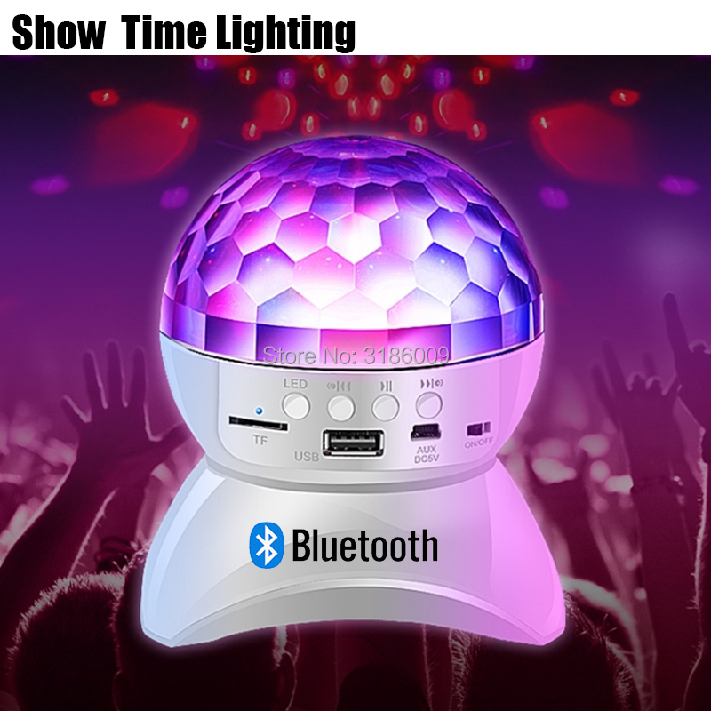 Easy Carry Disco LED Crystal Ball With Bluetooth Speaker Chargeable Battery Good Use For Dance Party Dj KTV Home Funny Birthday