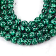 Green Malachite Stone Round Loose Beads For Jewelry Making 4-12mm Spacer Fit Diy Bracelet Necklace Accessory 15 Strand