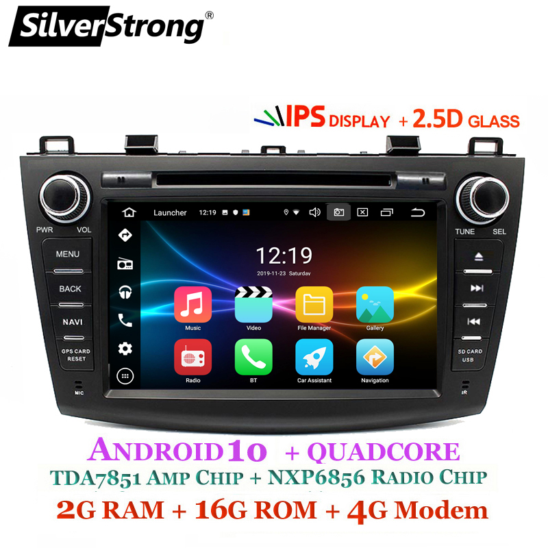 SilverStrong 4G Modem Android 10.0 Car DVD For Mazda 3 Axela 4G SIM Car Multimedia Mazda 3 Bluetooth 4.0 WIFI Option TPMS image