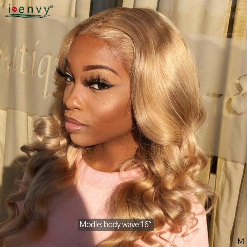 Image 3 - I Envy Blonde 바디 웨이브 번들 브라질 헤어 위브 번들 #27 Colored 1 3 4 Bundles Deals Non Remy Honey Blonde Human Hair헤어 위브즈   -