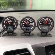 GReddi датчик температуры воды 7 Светильник цвета ЖК-дисплей с измерителем напряжения гоночный датчик 62 мм 2,5 дюйма с датчиком автомобильные аксессуары