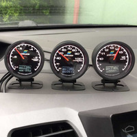 GReddi датчик температуры воды 7 Светильник цвета ЖК-дисплей с измерителем напряжения гоночный датчик 62 мм 2,5 дюйма с датчиком автомобильные ак...