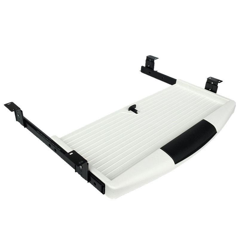 DIY Computer Desk Steel Keyboard Tray Mute Desk Sliding Rail Drawer Tray For Computer Sliding Keyboard Bracket Table Accessories