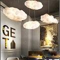 Современные облака подвесной светильник Романтический белый шелк хлопок Мягкий плавающий подвесной светильник Гостиная Спальня домашний ...