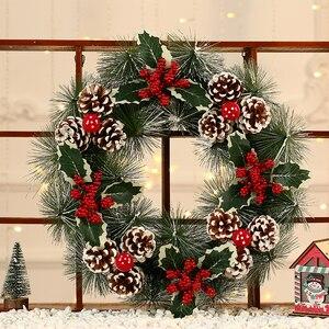 Image 5 - Inverno Rustico Impiccagioni di Natale Decorazione Della Casa Accessori Di Natale Decorazioni per La Casa Bianca Neve Corona con Le Stelle Porta Corona di natale