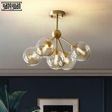 Modern Iron art glass led Chandelier light stylish magic bean molecule chandelier lamp decorative ceiling hanging Led Lighting