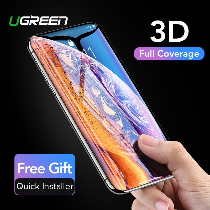 Ugreen Protective Glass On the iPhone 7 6 8 plus 11 Pro Max X 10 XS Max XR 3D Hydrogel Full Screen Protector Glass