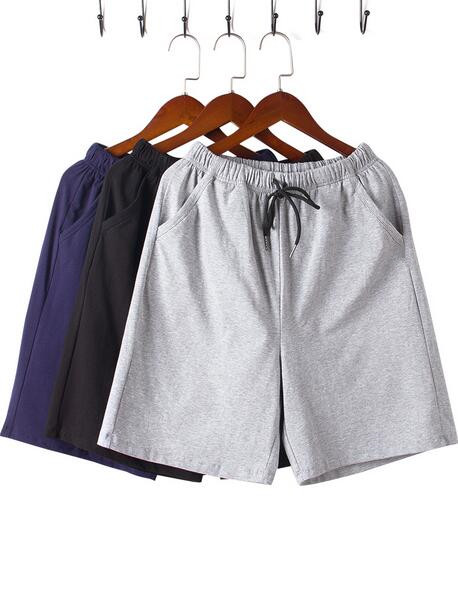 Summer Men's Casual Shorts Cotton Five-point Pants Thin Loose Large Size K229k-01-08