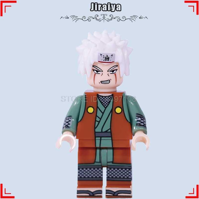 Uzumaki Naruto de película de dibujos animados Uchiha Sasuke Sarada una pieza Luffy Nami juguetes de bloques de construcción Anime hijo de Goku de Dragon Ball Z vegetto