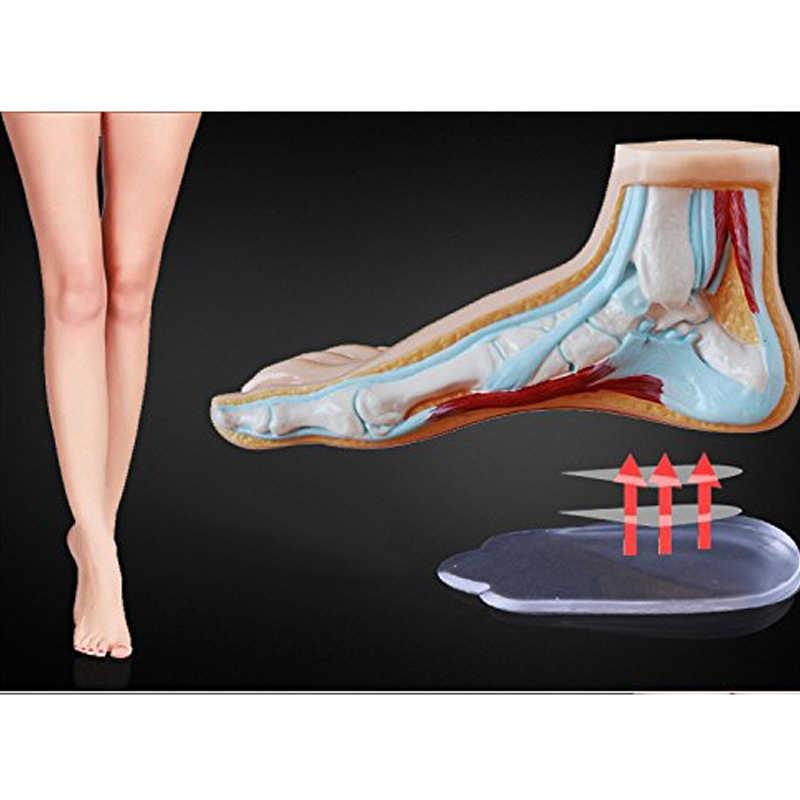 1 זוג BYEPAIN אורטופדיים מדרסים המדיאלי ורוחב עקב טריז מעלית סיליקון רפידות מתקנת O/X סוג רגל לנשים/גברים
