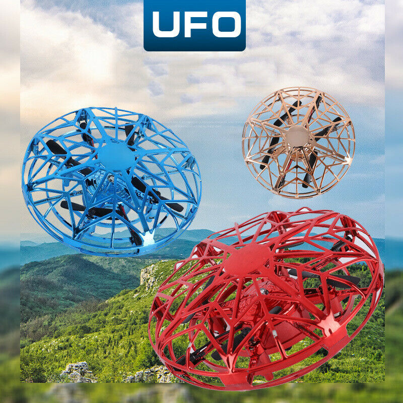 Mini UFO Drone Anti-collision Flying Helicopter Magic Hand UFO Ball Aircraft Sensing Induction Drone Kid Electric Electronic Toy