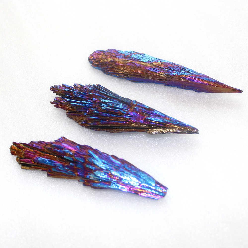 1PCS Natural Quartz Crystal Rainbow Titanium Cluster Mineral Specimen Healing