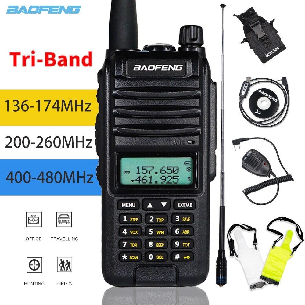 2020 Tri-Band Radio BaoFeng A58S 8W High Power Walkie Talkie UV-82hp Amateur Handheld Ham Two Way Radio UV-82 Transceiver UV82