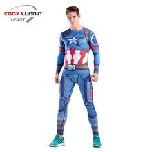 Мужские Компрессионные спортивные костюмы комплект для бега