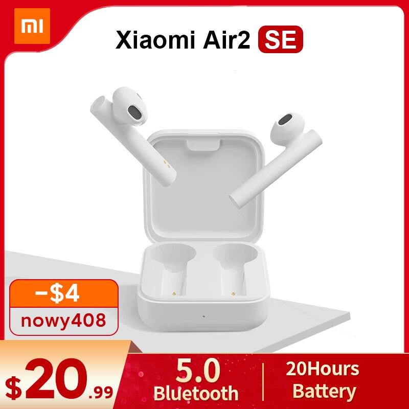 Xiaomi Air2 SE globalna wersja TWS Mi prawdziwe bezprzewodowe słuchawki Bluetooth 2 podstawowe powietrze 2 SE słuchawki douszne 20H bateria dotykowa