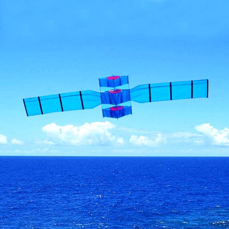 Livraison gratuite 3.5m satellite cerf-volant mouche pour jouets de plein air parachute cerfs-volants pour adultes radar cerf-volant ligne grand cerfs-volants bobine usine