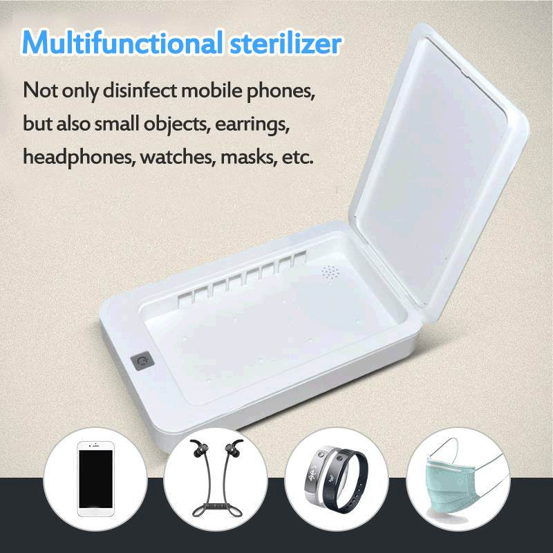 5V UV Phone Sterilizer Box Jewelry Phones Cleaner Personal Sanitizer Disinfection Cabinet With Aromatherapy Esterilizador