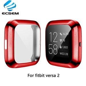 Image 5 - Beschermhoes Voor Fitbit Versa 2 Smart Watch Case Volledige Randen Protector Anti Shock Met Screen Film Shell Voor Versa 2