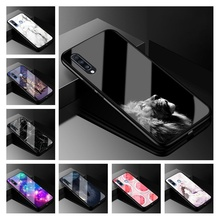 6.7 Cover For Samsung Galaxy A70 2019 Case Glass Hard Back Cover Phone Case For Samsung A70 A705F Case TPU Frame A 70 Coque for samsung galaxy a70 case luxury robot hard coque back phone case for samsung galaxy a70 play back cover for galaxy a70 case