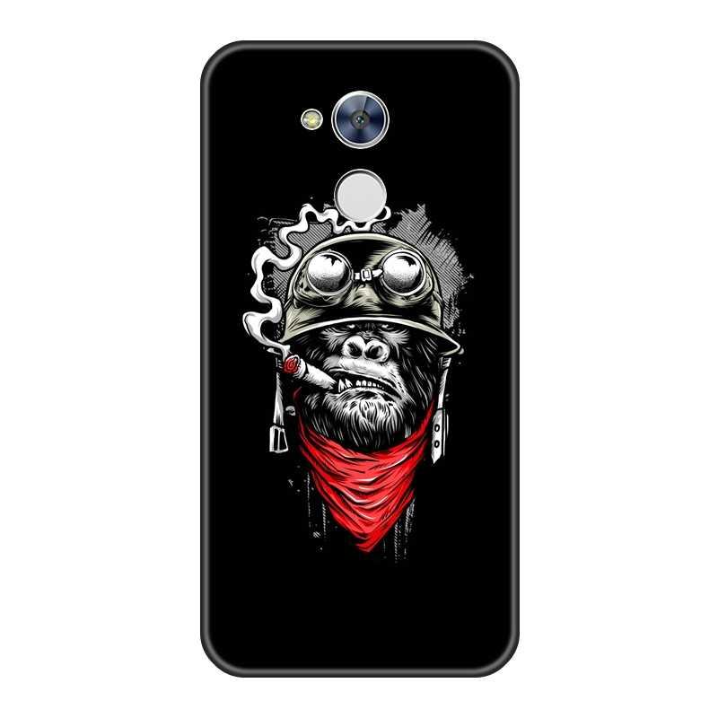 لينة الهاتف حافظة لهاتف Huawei الشرف 6A 4C 5C 6C برو الأسود الكلب بارد الباندا الذئب سيليكون الغطاء الخلفي لهواوي الشرف 6 5A 4X 5X 6X